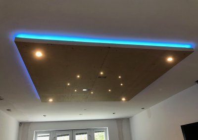 Home cinema 3 installation of home smart lighting system all voice activated,